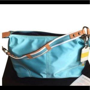 Coach hobo hamptons weekend baby blue satchel